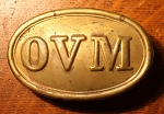 Ohio Volunteer Militia Belt Buckle, Model 1839, Reproduction