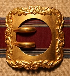 Square Buckle, Gilt, Antique.