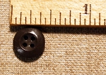 Dark Gray China Button 3/8