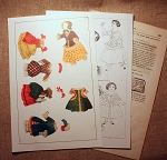 Paper Doll Sheet from November 1859 Godey's