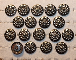 Stamped steel buttons, 5/8