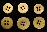 Bone Buttons, Antique. 1/2