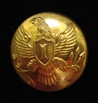 U.S. Army Infantry Officer Coat Buttons circa 1851-1880, Imported