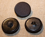 Flat Top, Black Silk Satin Button. Pad or Wire Back.