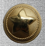 Texas Star button, Reproduction. 30L Coat Size