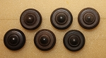 Goodyear's Patent Buttons, Set of 6, 3/4