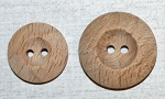 Hardwood Buttons in 2 sizes.