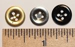 Tin Shirt Buttons, 1/2