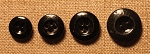 Black China Buttons in 4 sizes