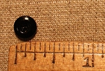 China Button, 3 hole, Black, 1/4
