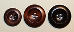 Wooden Buttons, 4 hole,  3/4