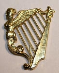 Irish Harp Insignia. Large