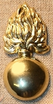 M 1858 US Army Ordnance Dept. Cap Ornament, Gilded