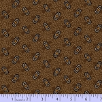Cotton Fabric. Prairie Basics, Brown