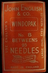 Needle Packets. John English & Co. #8, Betweens. Small