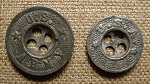 U.S. Army WWI Trouser buttons. Zinc, Original