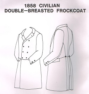 1858 Civilian Double-Breasted Frockcoat