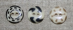 "Stencil Buttons, 5/8"", Set of 6"