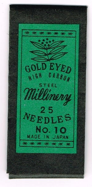 Millinery Needles. Size 10, Vintage.