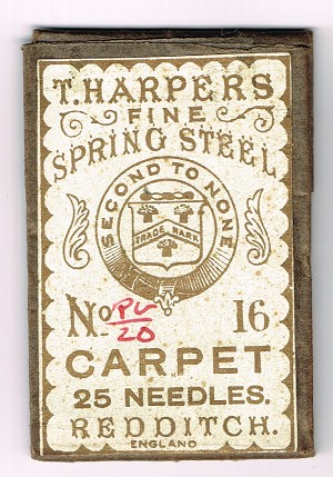 Carpet Needles. T. Harpers
