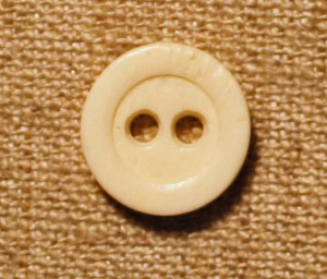 "Bone Button, 2 hole, 1/2"", Vintage,  0.50 each or 0.40 for 12 or more"