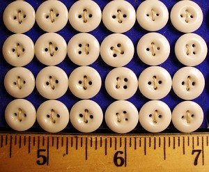 Antique White China Buttons