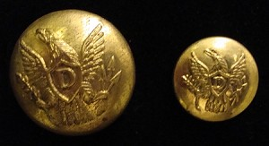 U.S. Dragoon Button, 1851-1861, Imported