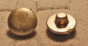 "Haversack/Pouch  Buttons, Pre-CW style, 1/2"", Dome, Pewter"