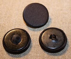 Flat Top, Black Silk Button. Pad or Wire Back.