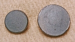 Pewter Button, Flat,