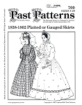 1858 to 1862 Plaited or Gauged Skirt