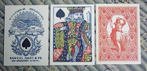 Playing Cards Reproduction. 1858 Samuel Hart Poker Deck