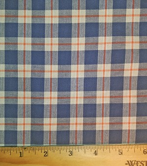 Cotton Shirting, Blue Plaid by FHW