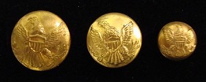 U.S. Army Enlistedman's  Coat Buttons circa 1851-1880 Imported